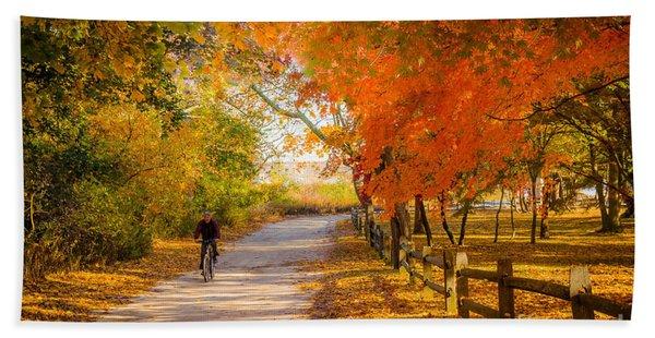 Autumn Path Beach Sheet
