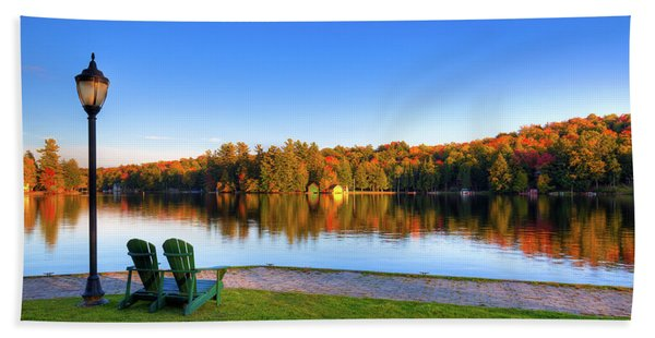 Autumn View For Two Beach Towel