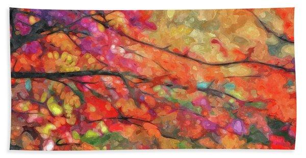Autumns Splendorous Canvas Beach Towel