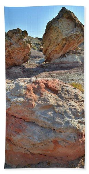 Balanced Boulders In Bentonite Site Beach Towel