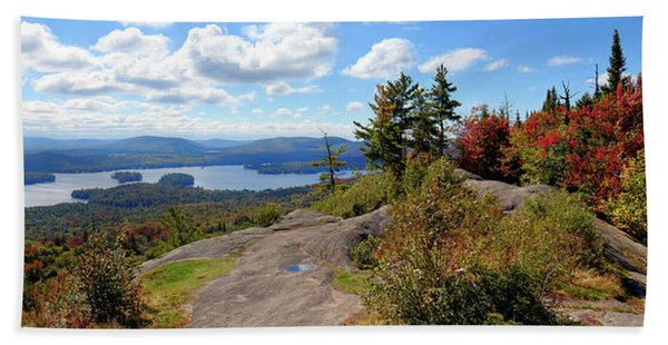 Bald Mountain Autumn Panorama Beach Sheet