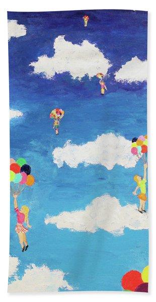 Balloon Girls Beach Sheet