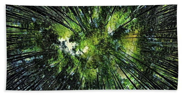 Bamboo Canopy Beach Towel