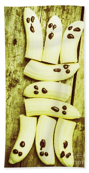 Bananas With Painted Chocolate Faces Beach Towel