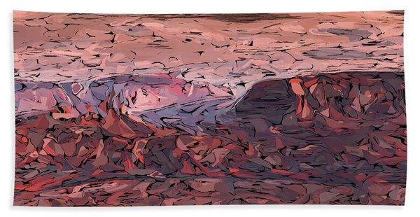 Banded Canyon Abstract Beach Towel