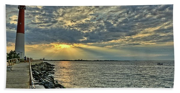 Barneget Lighthouse  New Jersey Beach Towel