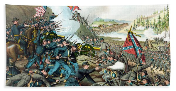 Battle Of Franklin - Civil War Beach Towel
