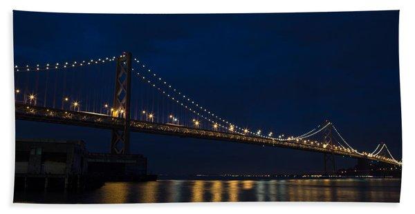 Bay Bridge At Night Beach Towel