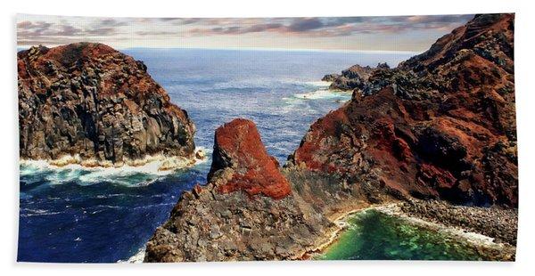 Bay Of Ponta Da Barca Beach Towel