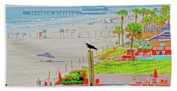 Beach Bird On A Pole Beach Sheet