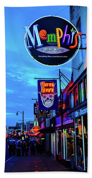 Beale Str. Blues  Beach Towel