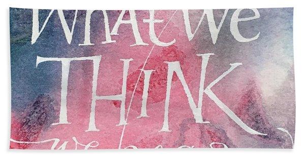 Inspirational Saying Become Beach Sheet