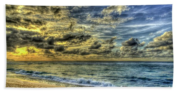 Before Sunset North Shore Oahu Hawaii Collection Art Beach Towel