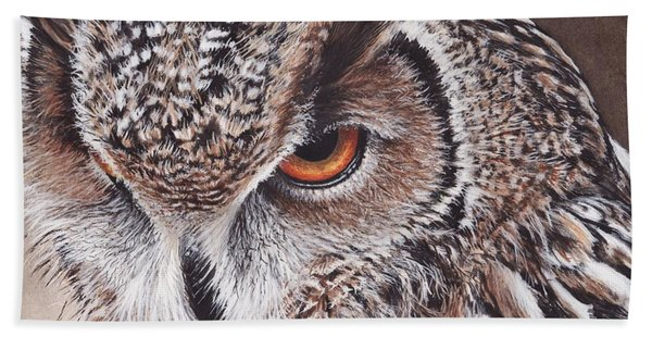 Bengal Eagle Owl Beach Towel
