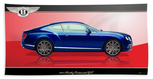 Bentley Continental Gt With 3d Badge Beach Towel