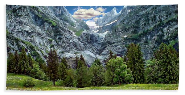 Bernese Alps Landscape Beach Towel