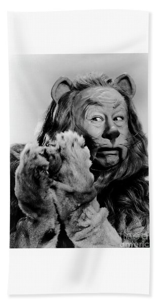 Cowardly Lion In The Wizard Of Oz Beach Towel