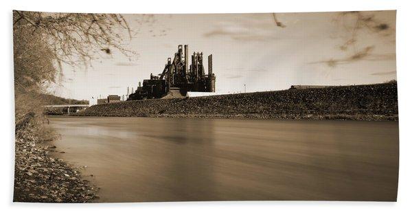 Bethlehem Steel Along The Lehigh Beach Towel
