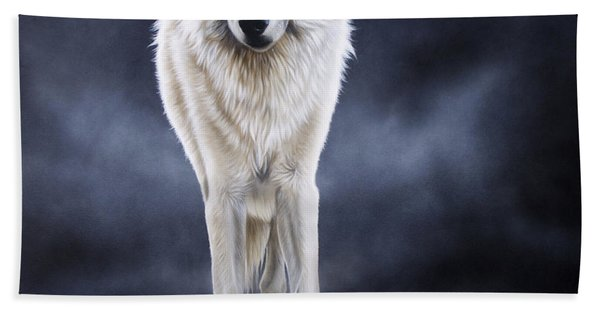 'between The White And The Black' Beach Towel
