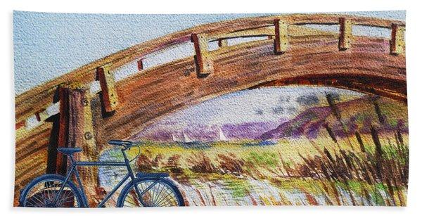 Bicycle Bridge Marina  Beach Towel