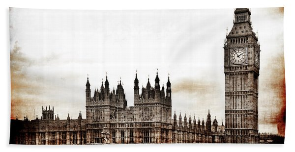 Big Bend And The Palace Of Westminster Beach Towel