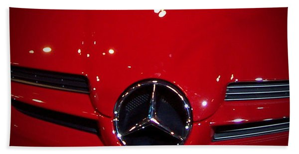 Big Red Smile - Mercedes-benz S L R Mclaren Beach Towel