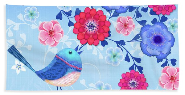Bird Song Beach Towel
