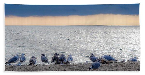 Birds On A Beach Beach Towel