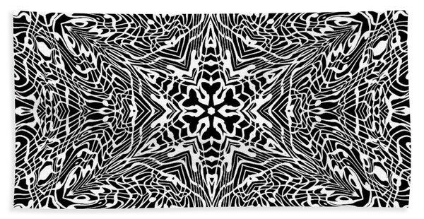 Beach Towel featuring the digital art Black And  White 27 by Robert Thalmeier