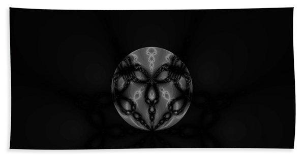 Black And White Globe Fractal Beach Towel