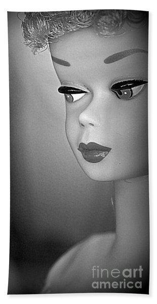 Black And White Reproduction Beach Towel