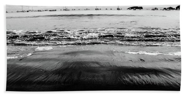 Black Beach  Beach Towel