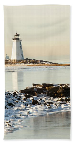 Black Rock Harbor Beach Towel