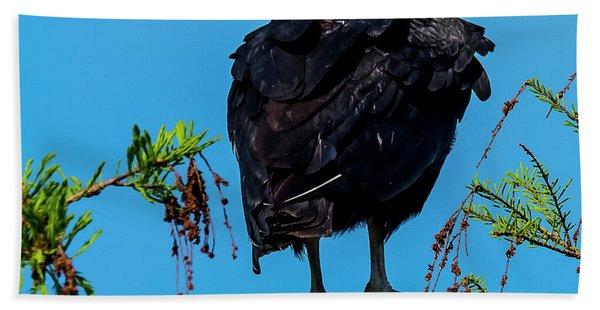 Black Vulture Beach Towel