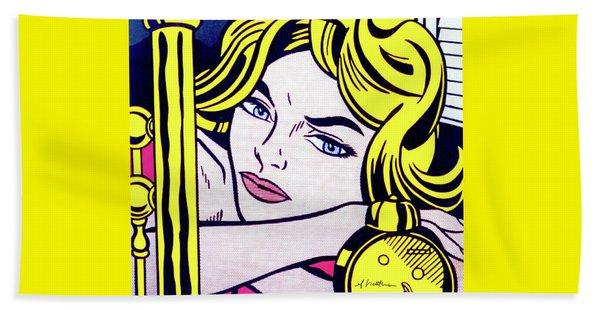 Blonde Waiting -1964 - Pop Art  Beach Towel