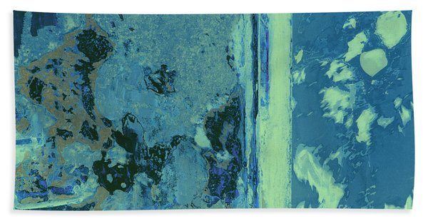 Blue Abstraction Beach Towel