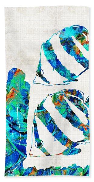 Blue Angels Fish Art By Sharon Cummings Beach Towel