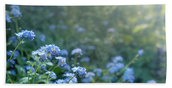 Blue Blooms Beach Towel
