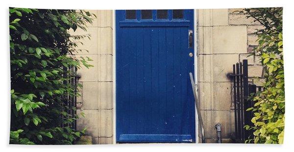 Blue Door In Ivy Beach Towel