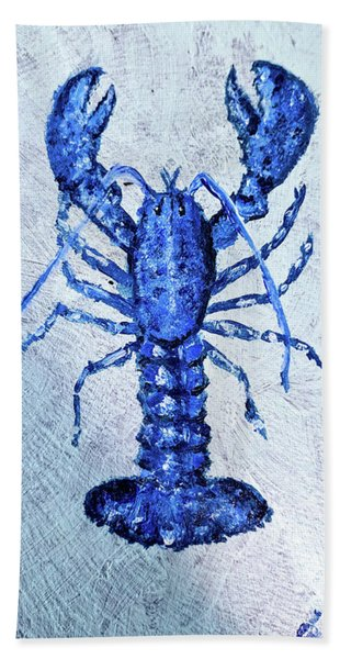 Blue Lobster 1 Beach Towel