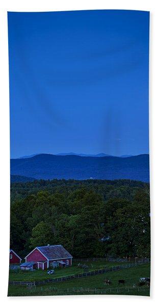 Blue Moon Rising Over Church Steeple Beach Towel