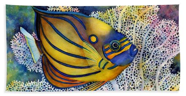 Blue Ring Angelfish Beach Towel