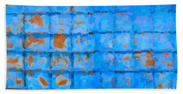 Blue Shutter And Rust Beach Towel