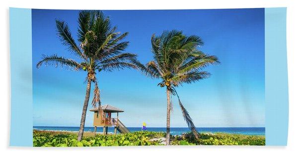 Blue Sky Palms Delray Beach Florida Beach Towel