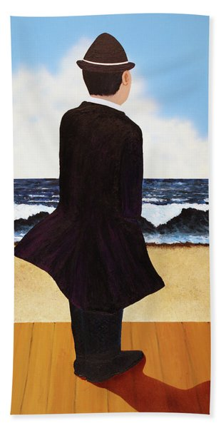 Boardwalk Man Beach Towel