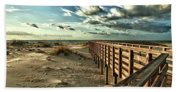 Boardwalk On The Beach Beach Towel