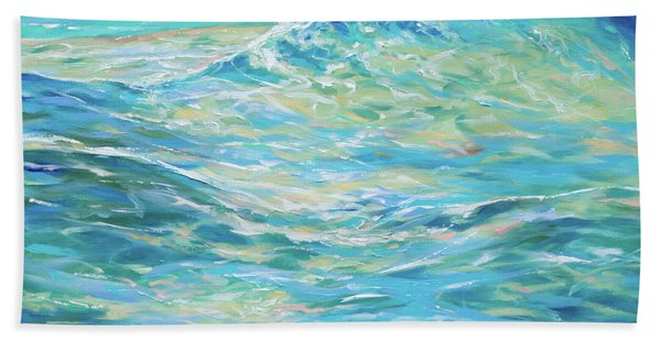 Bodysurfing Rolling Wave Beach Towel