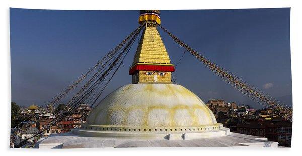 Boudhanath Stupa Beach Towel