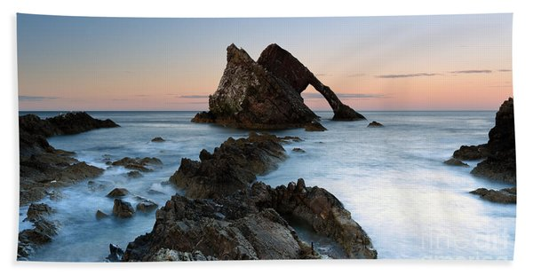 Bow Fiddle Rock At Sunset Beach Sheet