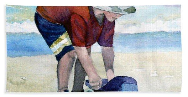 Boy With Truck Beach Sheet